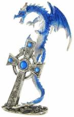 % Blue Dracul Dragon with Cross