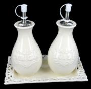% Creamware Oil and Vinegar Set