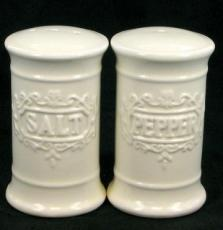 % Creamware Salt and Pepper Set x12