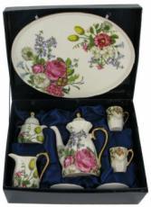 % Miniature 'Peony' Tea Set
