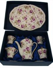 % Miniature 'Rose' Coffee Set