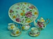 % Miniature 'Spring Flowers' Tea Set