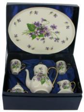 % Miniature 'Violet' Tea Set