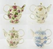 % Pack of 4 Assorted 'Tea For One' Sets