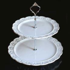 % Provence Two-Tiered Cake Stand