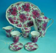 % Rose Bouquet Miniature Coffee Set