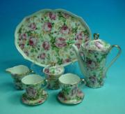 % Rose Garden Miniature Coffee Set