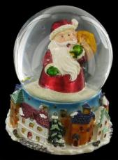 % Santa Carrying a Sack Snowglobe