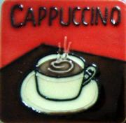 % Set of 4 Cappuccino Fridge Magnets