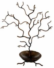 % Twig Tree Jewellery Holder with Bowl x2