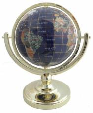 150mm Blue Lapis Single Pedestal Gemstone Globe