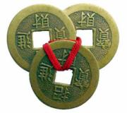 20 Sets of 3 Coins Tied with Red Ribbon