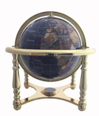 220mm Lapis Four-Legged Stand Gemstone Globe