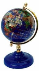 220mm Lapis Pedestal Stand Gemstone Globe