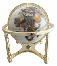 220mm Mother Of Pearl Four-Legged Stand Gemstone Globe