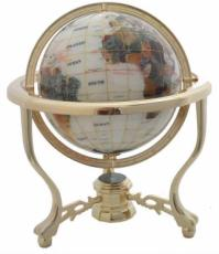 220mm Mother Of Pearl Three-Legged Stand Gemstone Globe