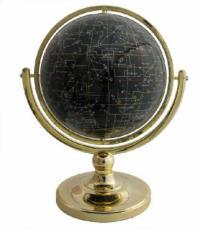 220mm Night Sky Single Pedestal Gemstone Globe