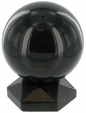 30mm Black Agate Sphere and Stand