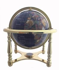 330mm Lapis Four-Legged Stand Gemstone Globe