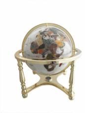 330mm Mother Of Pearl Four-Legged Stand Gemstone Globe