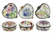 6 Assorted Heart and Oval Trinket Boxes