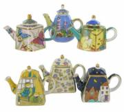 6 Assorted Teapot Trinket Boxes