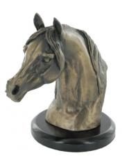 Arab Stallion Head Cold Cast Bronze Sculpture by Harriet Glen