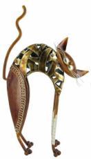 Arched Sheet Cat, Metal Decor x2