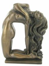 Art Nouveau Lady Cold Cast Bronze Sculpture by Love Is Blue