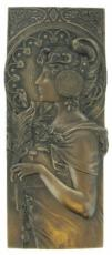 Autumn Leaves, Cold Cast Bronze Wall Plaque by Beauchamp Bronze