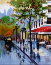 Avenue Champs Elysees 1 Ceramic Picture Tile by Brent Heighton 11