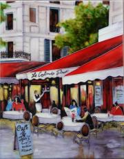 Avenue Champs Elysees 2 Ceramic Picture Tile by Brent Heighton 11