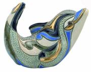 Baby Dolphin, Families Collection Figurine by De Rosa