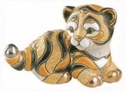 Baby Siberian Tiger, Families Collection Figurine by De Rosa