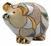 Baby Striped Pig, Families Collection Figurine by De Rosa