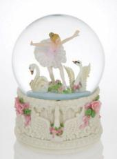 Ballerina and Swans Glitter Globe