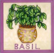 Basil Ceramic Picture Tile 8