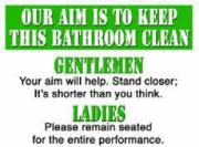 Bathroom Clean, Metal Sign