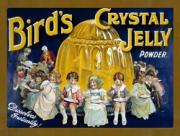 Bird's Crystal Jelly, Metal Sign