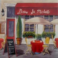 Bistro St Michelle Decorative Ceramic Picture Tile By Marco Fabiano 12