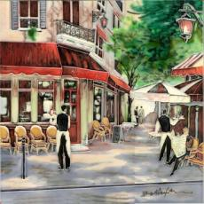 Bistro Waiter Ceramic Picture Tile by Brent Heighton 12