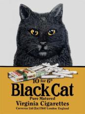 Black Cat Virginia Cigarettes, Metal Sign
