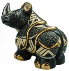 Black Rhino, Families Collection Figurine by De Rosa