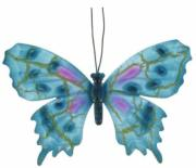 Blue Butterfly, Metal Decor x6