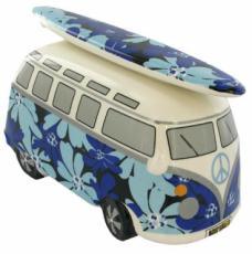 Blue Flowers Camper Van Money Box
