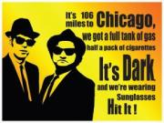 Blues Brothers Chicago, Metal Sign