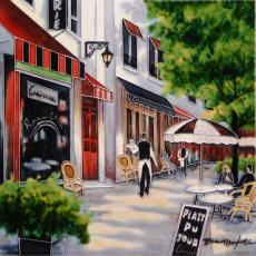 Boulevard Cafe Decorative Ceramic Picture Tile by Brent Heighton 12