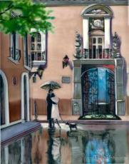 Boulevard Hotel Ceramic Picture Tile by Brent Heighton 11