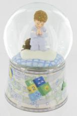 Boys Prayer Glitter Globe