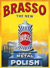 Brasso, Metal Sign